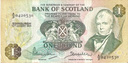 BILLETE DE ESCOCIA DE 1 POUND DEL AÑO 1970  (BANKNOTE) RARO - 1 Pound