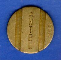 FV -  TOKEN - FICHA URUGUAY TELEFONICA ANTEL 1988 22 MM - Tokens & Medals