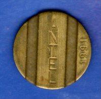 FV -  TOKEN - FICHA URUGUAY TELEFONICA ANTEL 1991 22 MM - Tokens & Medals