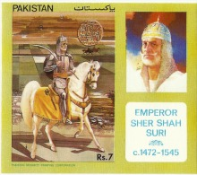 PAKISTAN 1991 MNH EMPEROR SHER SHAH SURI MINATURE SHEET - Pakistan