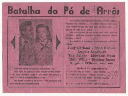 BEJA ♦ TEATRO PAX JULIA ♦ 29.01.1948 ♦ BATALHA DO PÓ DE ARRÔS ♦ JUDY GARLAND ♦ PORTUGAL &# - Programmes