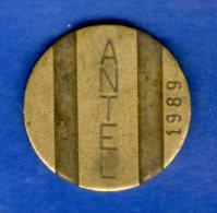 FV -  TOKEN - FICHA URUGUAY TELEFONICA ANTEL 1989 22 MM - Tokens & Medals