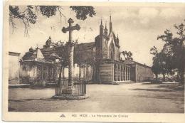 NICE--405--LE MONASTERE DE CIMIEZ--TIMBRE ARRACHE-MANQUE DE PAPIER-- - Monuments, édifices