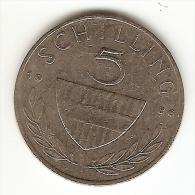 5 SCHILLING 1980 - Austria