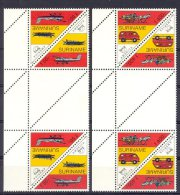 Mwb0823TBBPB U.P.A.E.P. AMERICA POST BUS BOOT VLIEGTUIG PLANE CAR BOAT COLUMBUS * GUTTERPAIR * SURINAME 1994 PF/MNH - Transportmiddelen
