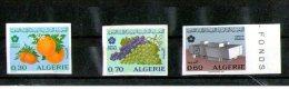 3 Timbres Non Dentelé -Expo 70 Osaka- Exposition Universelle D'Osaka - Algérie (1962-...)