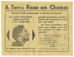 BEJA ♦ TEATRO PAX JULIA ♦ 18.03.1948 ♦ A TERRA FICOU EM CHAMAS ♦ PORTUGAL ♦ 3 SCANS - Programma's