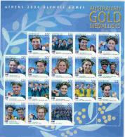2004 Olympic Medallists  Sheetlet - Summer 2000: Sydney