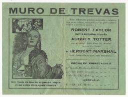BEJA ♦ TEATRO PAX JULIA ♦ 29.01.1950 ♦ ROBERT TAYLOR, AUDREY TOTTER, HERBERT MARSHAL ♦ PORTUGAL - Programs