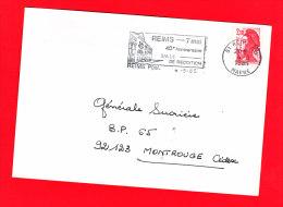 Flamme Dpt 51 : REIMS Ppal (SCOTEM N°  7160 Du 05/04/1985 => 07/05/1985) : 40ème Anniversaire Salle De Réddition - 7 Mai - Mechanische Stempels (reclame)