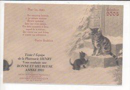 """2005 Calendrier De Poche """"Pharmacie  Henry à Hérouville St Clair """" / Chats,medecine - Calendriers"""