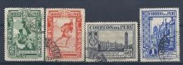 13054699  PERU  YVERT  Nº  347/249/352/353 - Peru