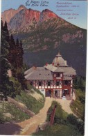 Slovakia,High Tatra,non Mailed Postcard 1918: Tarpatakfüred Bath Hotel 1300 M, Lomnicz Peak 2635 M - Slovacchia