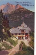 Slovakia,High Tatra,mailed Postcard 1917:Tarpatakfüred Bath 1300 M, Lomnicz Peak 2635 M - Slovacchia