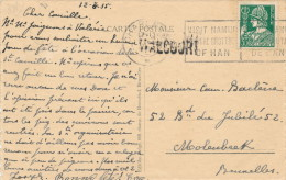 066/21 -- Carte-Vue Chemin De Fer WALCOURT TP Mercure CHARLEROY 1935 -  Griffe D´ Origine WALCOURT - Poststempel