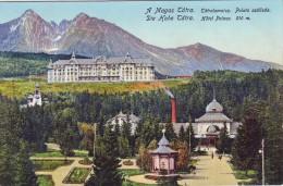 Slovakia,High Tatra,non Mailed Postcard 1912: Tatralomnicz Bath, Hotel Palace, 910 M. - Slovacchia