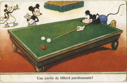 Mickey Mouse :   (  Biljart -  Billard -  Billiards ) - Disney