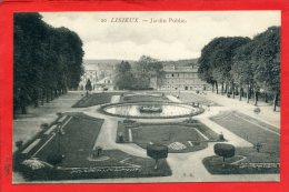 LISIEUX JARDIN PUBLIC CARTE EN TRES BON ETAT - Lisieux