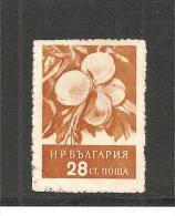 BulMi.Nr.992/ BULGARIEN -  Pfirsich, 1956  O - Gebraucht