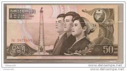 Corea Del Nord - Banconota Non Circolata Da 50 Won - 1992 - Corea Del Nord