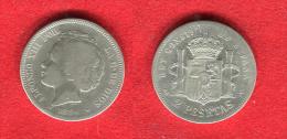ESPAGNE - ESPAÑA - SPAIN - ALPHONSE XIII - ALFONSO XIII - 2 PESETAS 1894 - RARE - [ 1] …-1931 : Kingdom