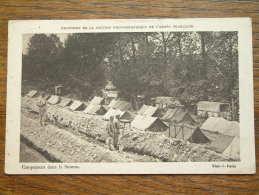 Campement Dans La Somme ( Armée Française ) Anno 19?? ( Zie Foto Voor Details ) !! - Ohne Zuordnung