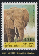 1997 - Afrique - Timbre De Guinée - 450 F. Eléphant - Laxodonia Africana -