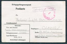 1941 France Germany POW Prisoner Of War Kriegsgefangenenpost Stalag XII D - Cannes - Storia Postale
