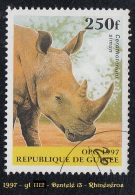 1997 - Afrique - Timbre De Guinée - 250 F. Rhinocéros Blanc  -