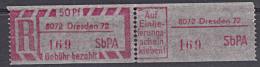 DDR SbPA  ** 50 Pf Einschreibemarken R-Zettel 8072 DRESDEN 72 - [6] Repubblica Democratica