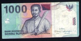 Billet De Banque Nota Banknote Bill 1000 SERIBU RUPIAH Indonésie Kapitan Pattimura 2012 - Indonésie