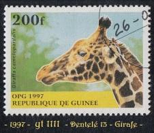 1997 - Afrique - Timbre De Guinée - 200 F. Girafe - Giraffa Camelopardalis -