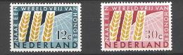Nederland 1963 Freedom From Hunger NVPH 784/5 Yvert 767/8 MNH ** - Neufs