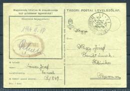 1944 Hungary Tabori Fieldpost Feldpostkarte