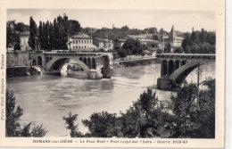 """ROMANS """"Le Pont Neuf """" Guerre 1939 :40 Pont Coupé Sur L'isère - Romans Sur Isere"""