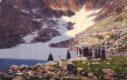 Slovakia,High Tatra,mailed Postcard 1918: Franz Josef Peak, Animated - Slovacchia
