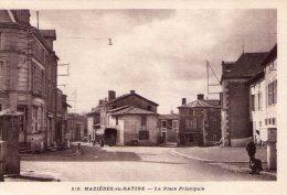Mazières-en-Gâtine..animée..la Place..camion..voiture - Mazieres En Gatine