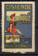 Ostende Reine Des Plages Art Nouveau - Cinderellas