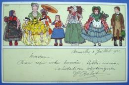 Brüssel,Stempel Exposition Franco-Bege De La Mode,1922,Künstlerkarte,Magdelaine Cassiers, - Autres