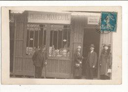 75 PARIS CARTE PHOTO MAGASIN CHOCOLAT MOREUIL CPA 1920 - Non Classificati