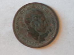 5 Centimos Espagne Spain Espana 1877 OM - [ 1] …-1931 : Royaume