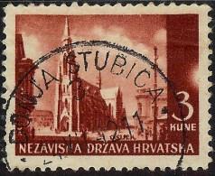 Croatia. WWII. NDH 1941 Osijek 3K Typical Plate Error - Half Sun - MiNr 53 Used - Croatia