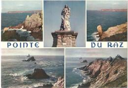 Dépt 29 - PLOGOFF - Multi-vues (5 Vues) - La Pointe Du Raz - (CPSM 10,3 X 14,8 Cm) - Plogoff