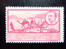 AFRIQUE OCCIDENTALE ESPAGNOLE 1950 DROMADAIRES ET EFFIGIE DE FRANCO  Edifil Nº 17 ** MNH Yvert Nº 16 ** - Sahara Spagnolo