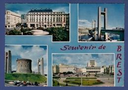 29 BREST Place Tour D'Auvergne, Pont National, Tour Tanguy, Place Hôtel De Ville 4 Vues - Brest