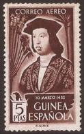GUI317-L38401.Guinee .GUINEA  ESPAÑOLA .Fernando El Catolico.Aereo.1952.(Ed 317**)sin Charnela. - Guinea Española