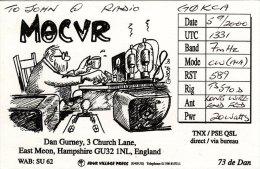 Amateur Radio QSL Card England M8CVR East Meon Hampshire Gurney - Radio Amateur