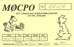 Amateur Radio QSL Card England GM0CPO Queen's Park Chester - Radio Amateur