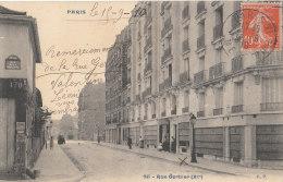 PARIS XI  Edition CP N° 945  Rue GERBIER à La Rue De La Roquette Immeubles Animation 1910 - Arrondissement: 11