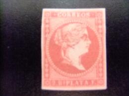 ANTILLAS - ANTILLES ESPAGNOLES  AÑO 1857  ISABEL II  Edifil Nº 9 * MH Yvert Nº 10 * MH - Puerto Rico